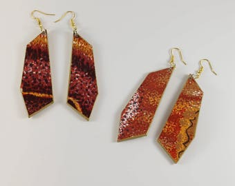 Moth Wing Print Earrings