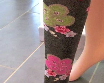 Tights woman printed flowers