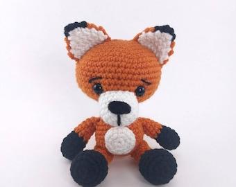 PATTERN: Frankie the Fox - Crochet fox pattern - amigurumi fox - crocheted fox pattern - PDF crochet pattern