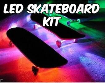 LED Skateboard Kit Battery Powered 5050 20 Color Options 19 Modes Light Strip