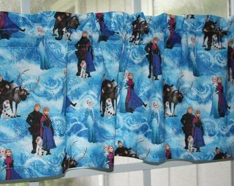 Valance Blue Disney Frozen for Kids Bedroom