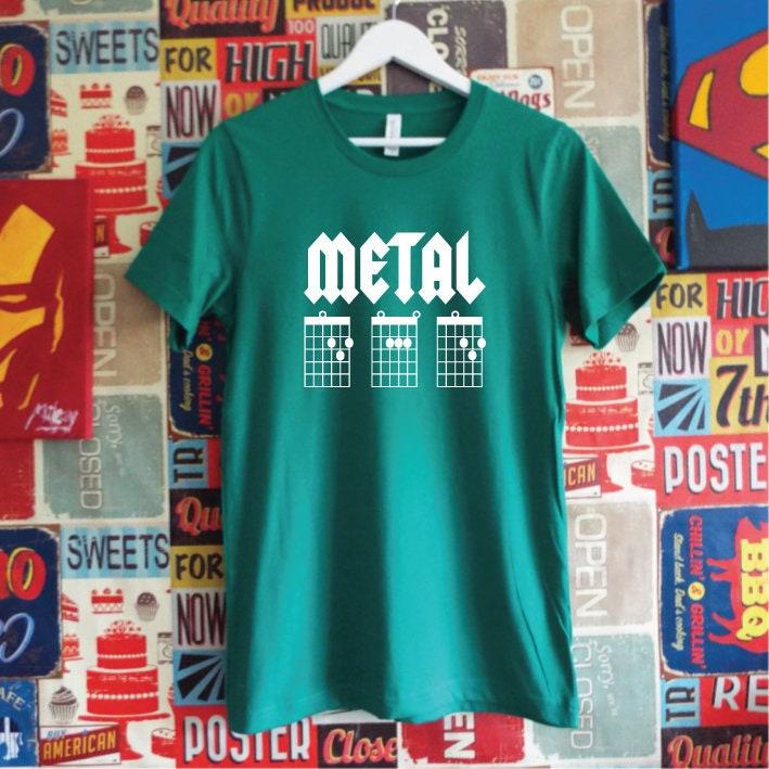 Metal Dad Guitar Chords Shirt. Guitar Dad Shirt. Father\'s Day. Metal ...