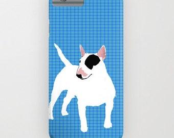 White English Bull Terrier Dog on Phone Case -  Samsung Galaxy S7, iPhone 6S, iPhone 6 Plus, Gifts for Pet Lovers, Bull terrier Gifts