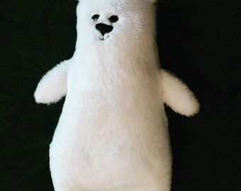 Petite Polar Bear Plushie Office Pal