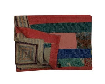 FreeExpShipping Vintage Kantha Quilt Throw Blanket Unique Old Cotton Boho Bohemian Indian Hand stitched Amazing beautiful Quilt