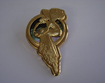 AD7a Art Nouveau style brooch (Water Sprite)
