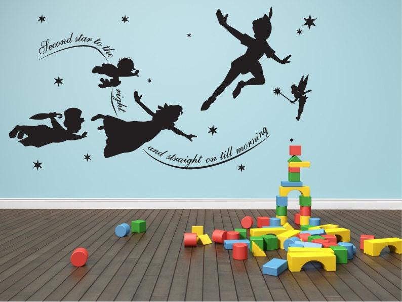 Peter pan wall decal Vinyl mural nursery playroom decal