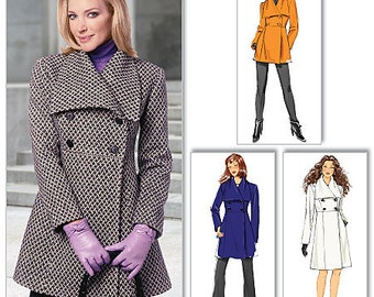 Butterick B5685 Misses' Double-Breasted Jacket and Coat Sewing Pattern Fall Winter