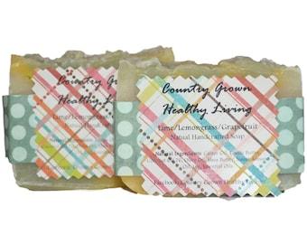 Lime Lemongrass Grapefruit Natural Handcrafted Soap