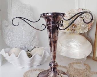WALKER HALL Sheffield Vase Silver Plate Vintage Home Decor