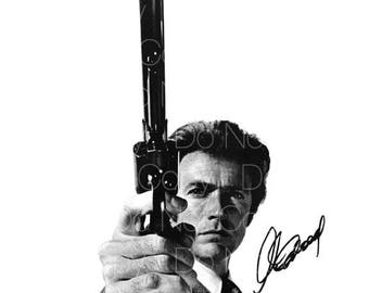 Dirty Harry signed Clint Eastwood 8X10 photo picture poster autograph RP