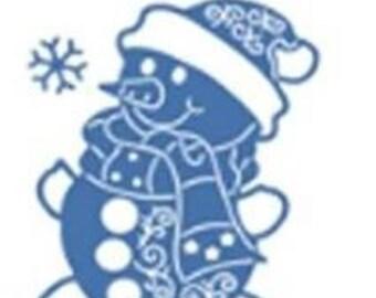 cut scrapbooking snowman