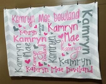 Personalized Baby Blanket, Custom Swaddle Blanket, Personalized Newborn Blanket, Custom Baby Blanket, Monogram Blanket, Baby Shower Gift