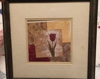 Damaged picture frame with usable glass, mats and picture