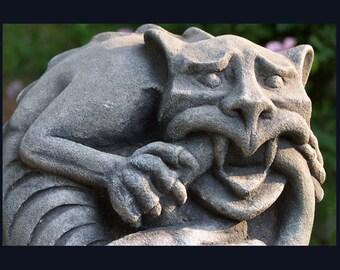 Mortholomew Gargoyle cat- tail biter-grotesque gothic stone