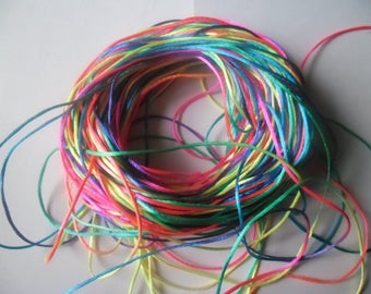 """x 1 meter of multicolored cord """"colors 16"""" nylon high quality 2 mm"""