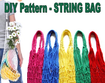 DIY String Bag - Pattern Bag - Hood with reusable Bag