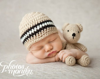 Newborn Baby Boy Hat, Crochet Baby Hat, Baby Boy Gift, Baby Boy Outfit, Baby Hats for Boy, Baby Boy Photo Prop, Baby Boy, Coming Home Outfit