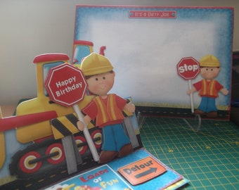 Happy Birthday 'The Builder' Easel Card