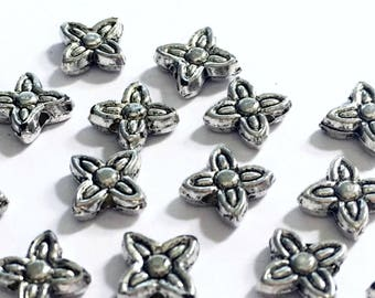 100PC Antique Silver 7mm Spacer Beads