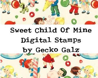 Sweet Child Of Mine Digital Stamps