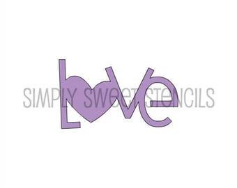 Love Word Stencil