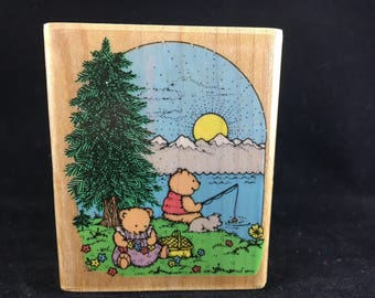 Sunrise Picnic Limited Edition 1991 Used Rubber stamp Hero Arts