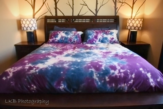 Blue And Purple Duvet Cover-Comforter Cover-Tie Dye
