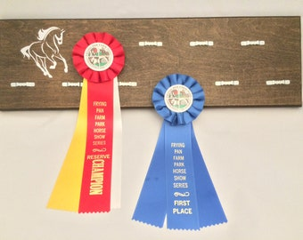 Compact Display Board Rack for Horse Show Ribbons