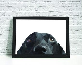 Geometric Dog, Instant Downloadable Printable Art, Printable Wall Art