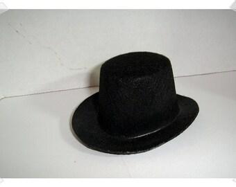 """Black Felt Top Hat/ 2 & half"""" by 5""""/ Craft Supplies*"""