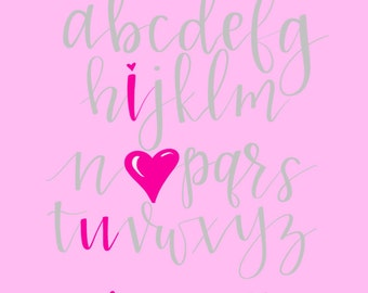 ABCs- I Heart You
