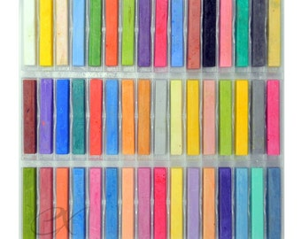 48 Soft Drawing Chalk Pastels; Brilliant Colors; Made in Italy
