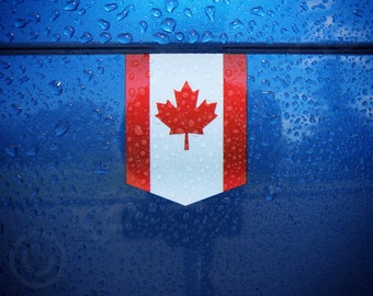 "Flag of Canada sticker - 1 3/8"" x 1 3/4"" - Canadian Car Decal Emblem Badge"