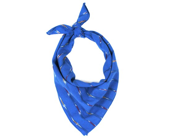 Cobalt Blue Ikat Bandana