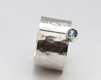 AquamarinRING in Silber