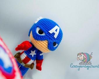 Captain America Amigurumi Doll - Avengers
