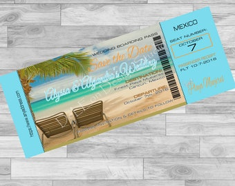 Save The Date Travel Ticket