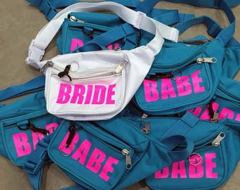 Set of Personalized /Custom Fanny Packs  (Bachelorette, Family Vacation, Festival etc.)