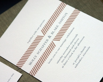 GATHERING Wedding Invitation (sample set)