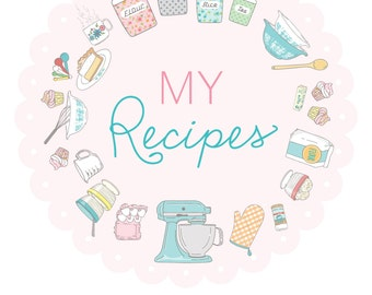 Recipe Binder Kit - Digital File Instant Download- organize recipes, section dividers, recipe sheets, notes with scripture