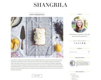 "NEW ""Shangrila"" Blogger Template - Premade Blogger Template - White Blogspot Theme"
