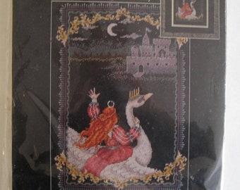 Swan Counted Cross Stitch Kit  Janlynn Flight of Fantasy SEALED