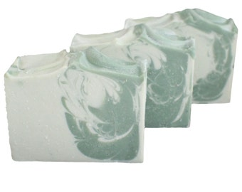 Sweet Basil Mint Soap | Vegan Soap | Essential Oil | Handmade in Colorado | Olive Oil Soap | Cold Process Soap | Gift for Her | Free Ship