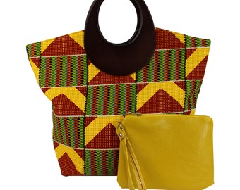 African Print Handbag with purse / Kente Ankara bag