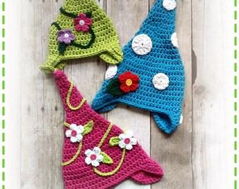 Crochet GARDEN GNOME Hat PDF Pattern Sizes Newborn to Adult Boutique Design - No. 58 by AngelsChest