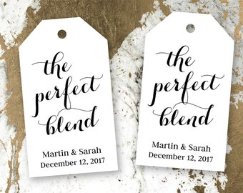 The Perfect Blend - Tea Wedding Favor - Coffee Wedding Favor - Wedding Favor Tags - Custom Wedding Favors - Personalized Favor Tags - Small