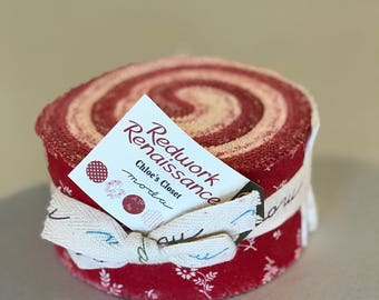REDWORK RENAISSANCE Jelly Roll by Chloe's Closet for Moda - Out of Print OOP