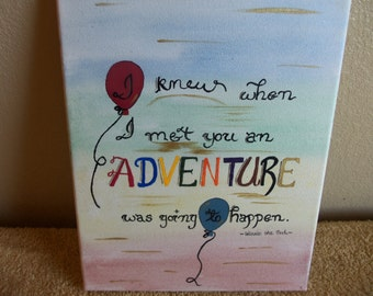 Winnie The Pooh Quote Canvas