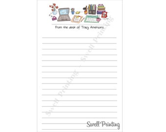 Set of 2 Personalized From the Desk of Notepads - by Swell Printing
